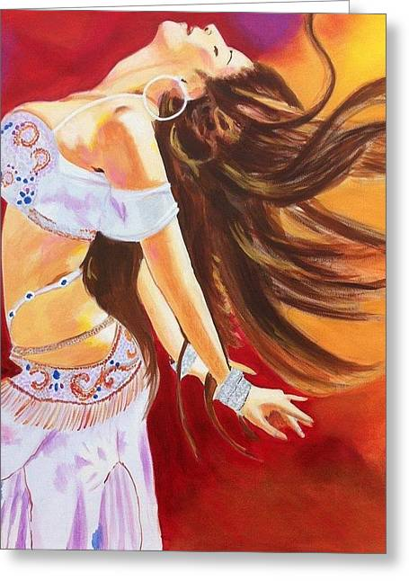Dance To Be Free Greeting Card by Yvonne Payne
