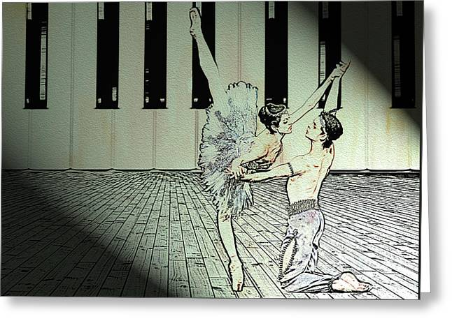 Dance To Express Your Thoughts Greeting Card by Manjot Singh Sachdeva
