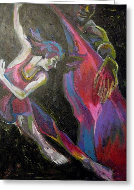 Dance To The Music Greeting Card by Connie Freid