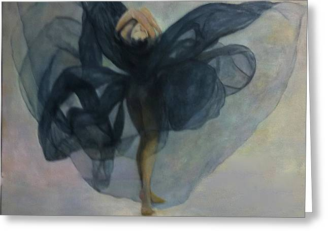 Dance With A Black Shawl Greeting Card