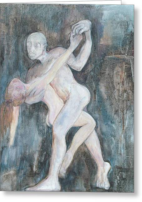 Erotic Sculptures Greeting Cards - Dance with Death Greeting Card by Michele D B