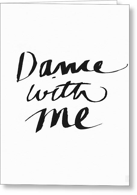 Dance With Me- Art By Linda Woods Greeting Card by Linda Woods