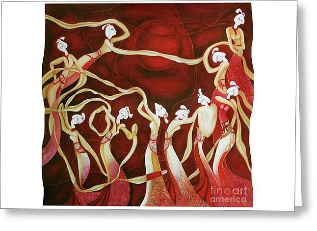 Dance With The Wind Greeting Card