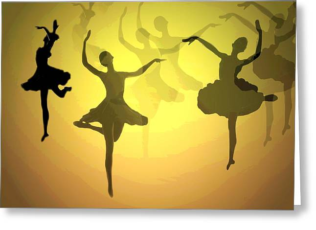 Dance With Us Into The Light Greeting Card by Joyce Dickens