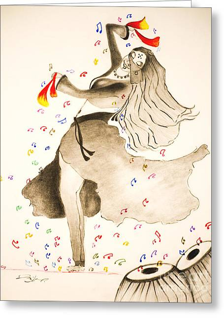 Dance With Veil Greeting Card