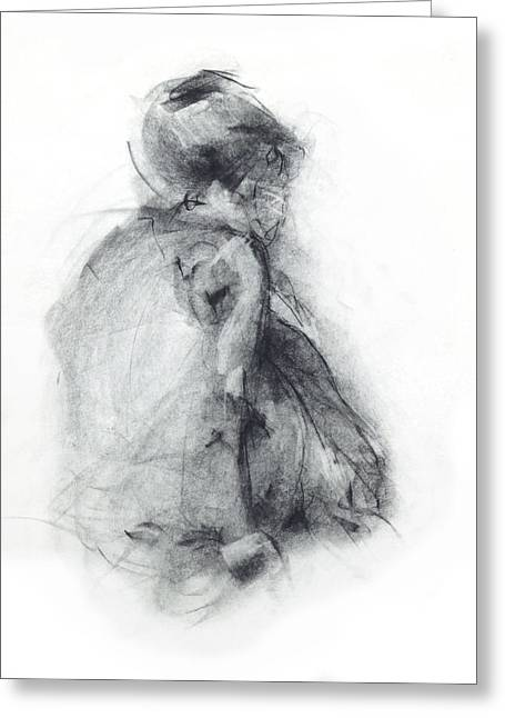 Best Sellers -  - Ballet Dancers Drawings Greeting Cards - Dancer - tender Greeting Card by Christopher Williams