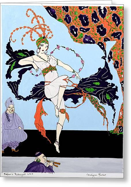 Dancer 2 Greeting Card by Carolynn Fischel