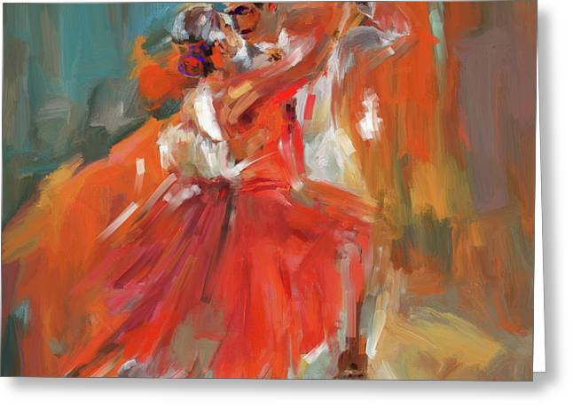 Dancer 284 1 Greeting Card by Mawra Tahreem
