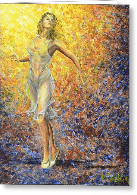 Dancer Away Greeting Card