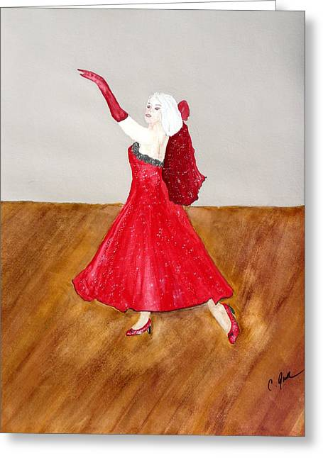 Dancer Greeting Card by Cathy Jourdan