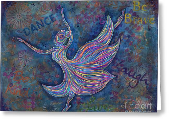Ballet Dancers Greeting Cards - Dancer Greeting Card by Gina Watkins - Soo Hoo
