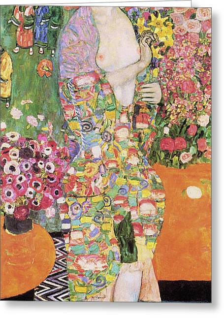 Dancer Greeting Card by Gustav Klimt