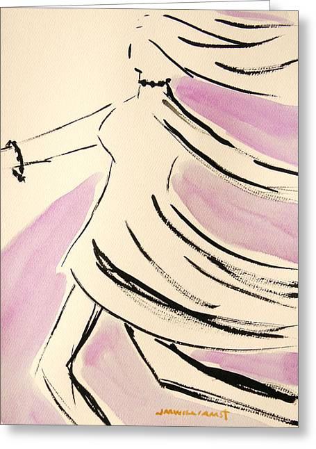 Dancer In Purple Lake Greeting Card