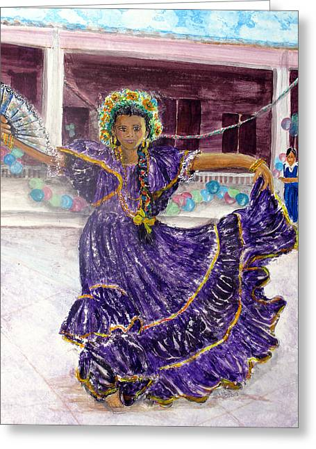 Dancer In Purple Greeting Card