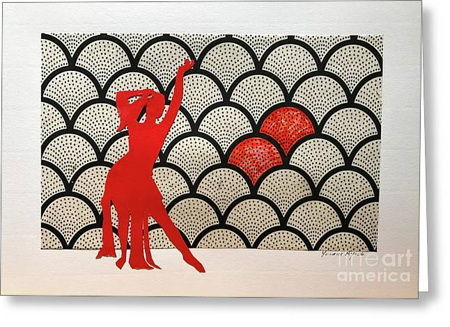 Dancer In Red 01 Greeting Card