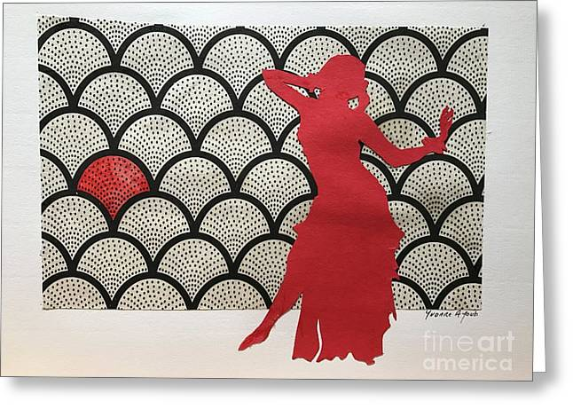 Dancer In Red 02 Greeting Card