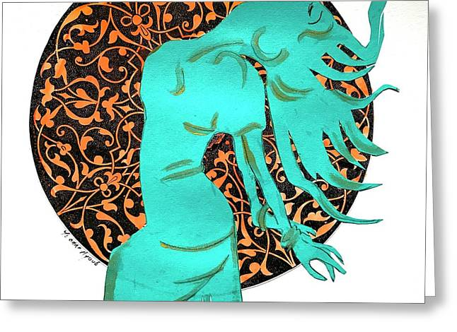 Dancer In Turquoise 02 Greeting Card