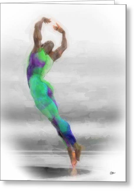 Dancer In Watercolours Greeting Card