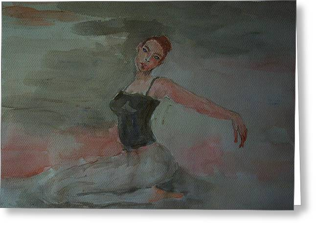 Dancer Greeting Card by Liliana Andrei