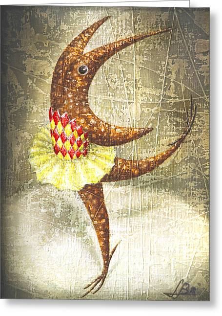 Dancer Greeting Card by Lolita Bronzini