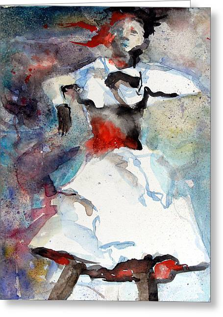 Dancer Greeting Card by Mindy Newman