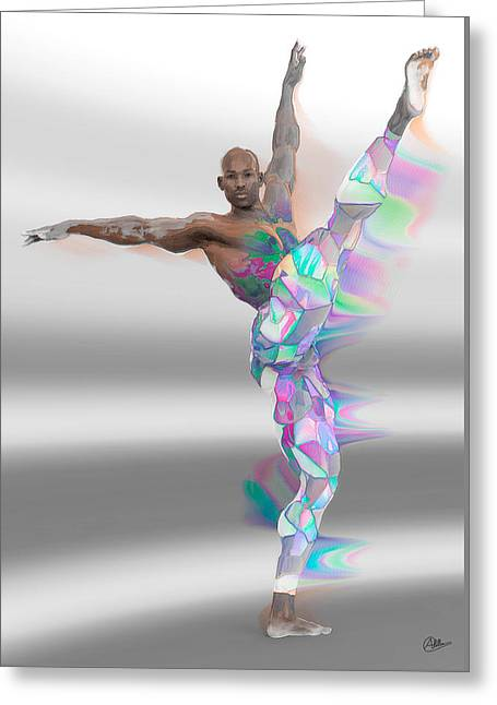 Dancer Multicolored Greeting Card