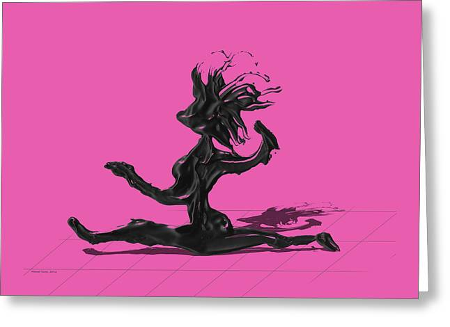 Dancer - Pink Greeting Card by Manuel Sueess