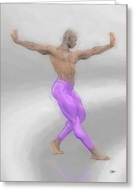 Dancer Purple Greeting Card