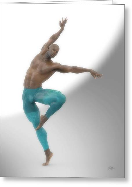Dancer With Blue Leotard Greeting Card by Joaquin Abella