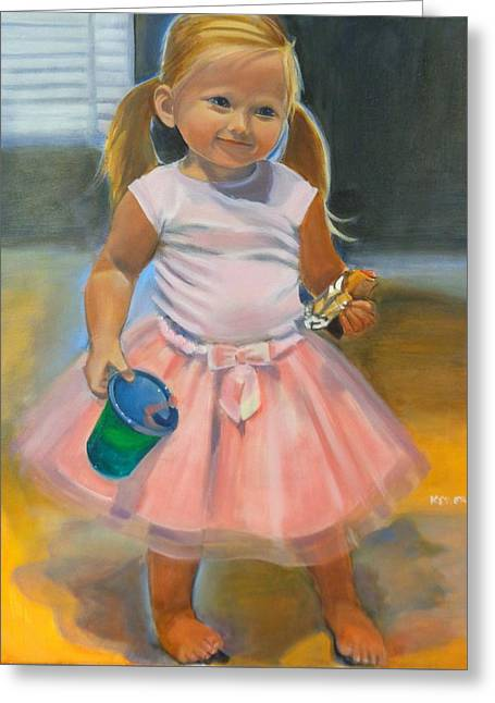 Dancer With Sippy Cup Greeting Card