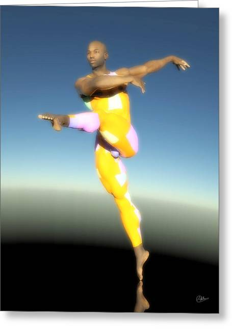 Dancer With Yellow Leotards Greeting Card