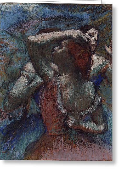 Dancers 1894 - 1904 Greeting Card by Edgar Degas
