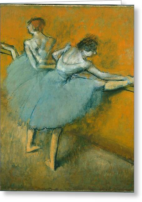 Dancers At The Barre  1900 Greeting Card by Edgar Degas