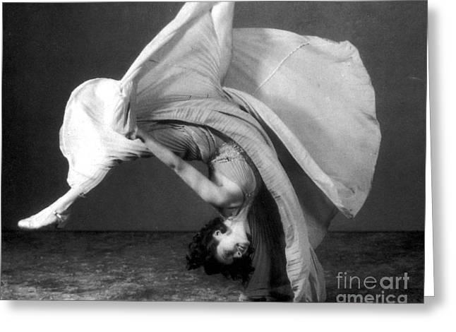 Dancers Cartwheel, 1940 Greeting Card