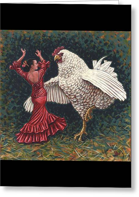 Dancers El Gallo Greeting Card by Holly Wood
