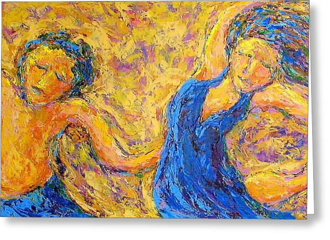 Dancers Greeting Card by Kat Griffin