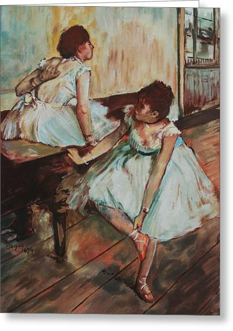 Dancers Greeting Card by Kevin Hopkins