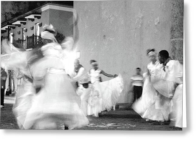 Town Square Greeting Cards - Dancers Greeting Card by Neshka Muchalska