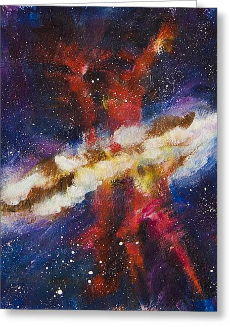 Dancers Of The Nebula Greeting Card by Yulia Kazansky