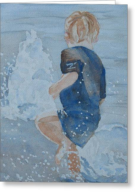 Dances With Fountains Greeting Card by Jenny Armitage