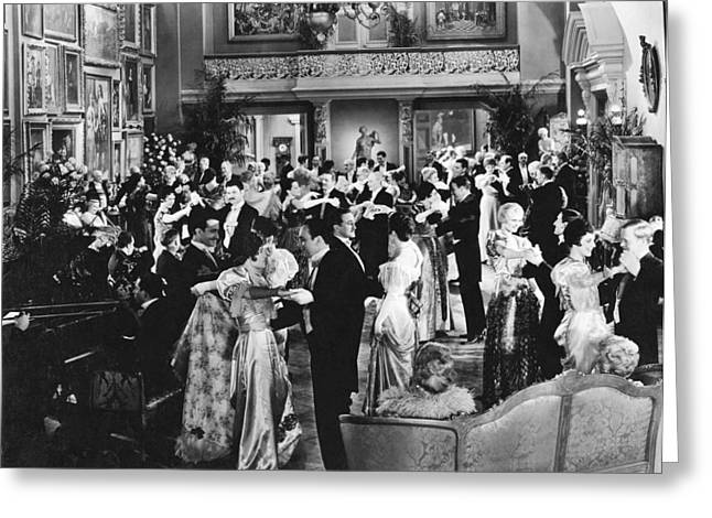 Dancing At A Formal Party Greeting Card by Underwood Archives