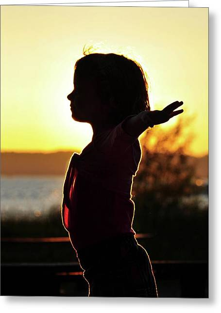 Dancing At Sunset Greeting Card