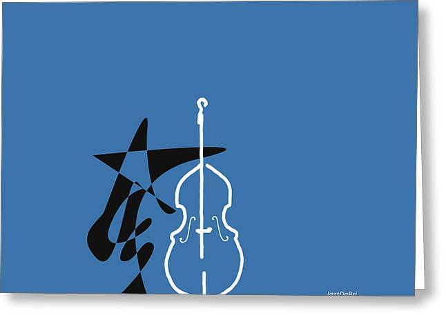 Dancing Bass In Blue Greeting Card by David Bridburg