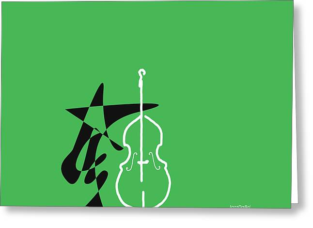 Dancing Bass In Green Greeting Card by David Bridburg