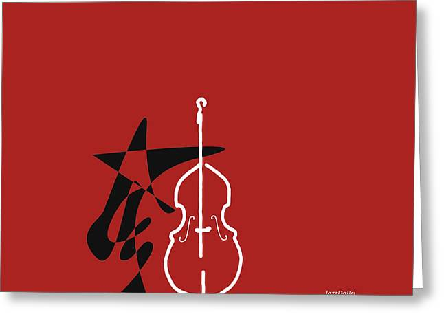 Dancing Bass In Orange Red Greeting Card by David Bridburg
