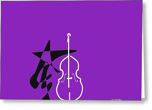 Dancing Bass In Purple Greeting Card by David Bridburg