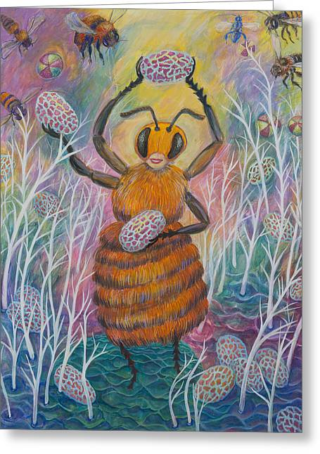 Dancing Bee Greeting Card