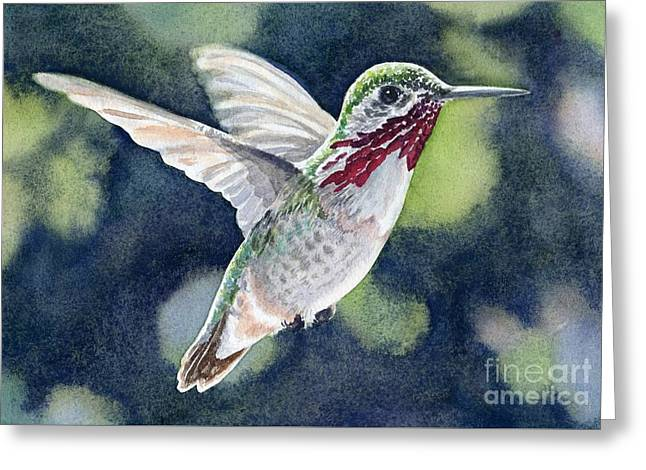 Dancing Calliope Greeting Card by Lorraine Watry
