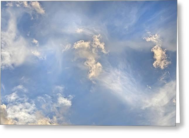 Dancing Clouds Greeting Card
