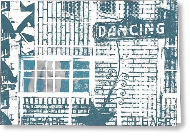 Dancing Collage Greeting Card